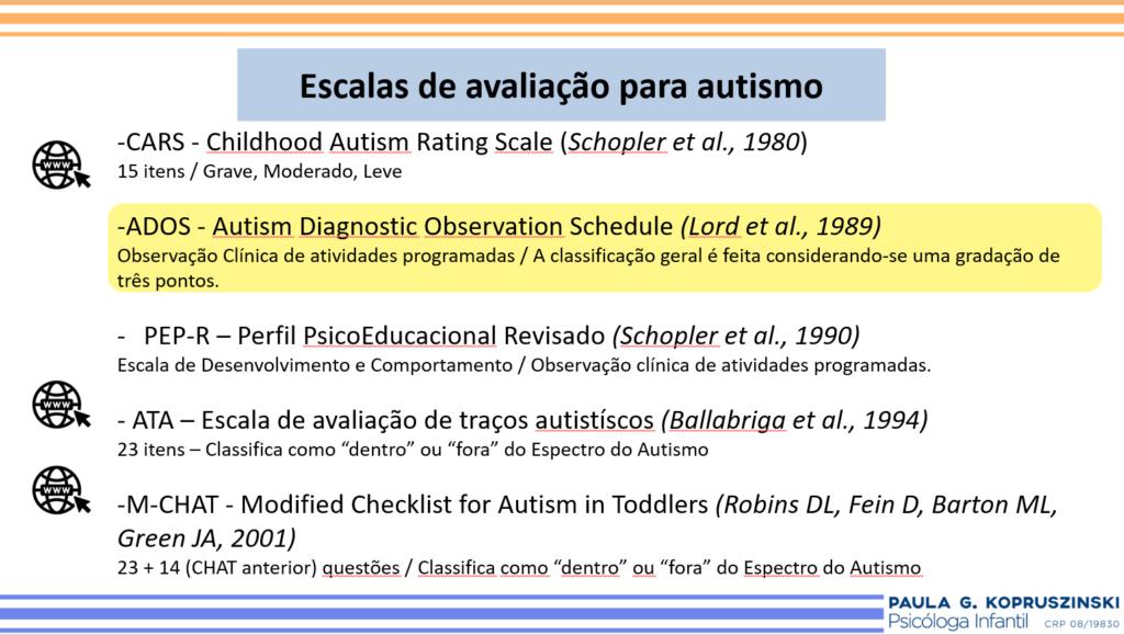 escalas de avaliação para o autismo - como saber se meu filho tem autismo - paulinha psico infantil