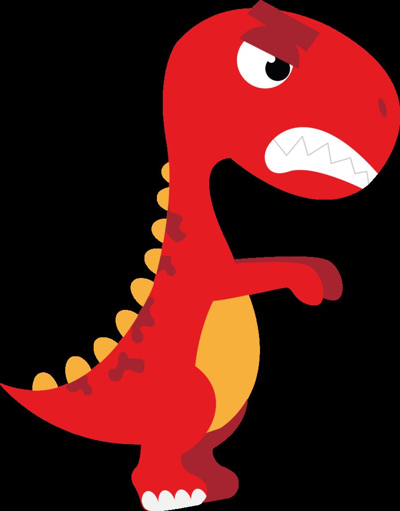 Dinossauro com raiva